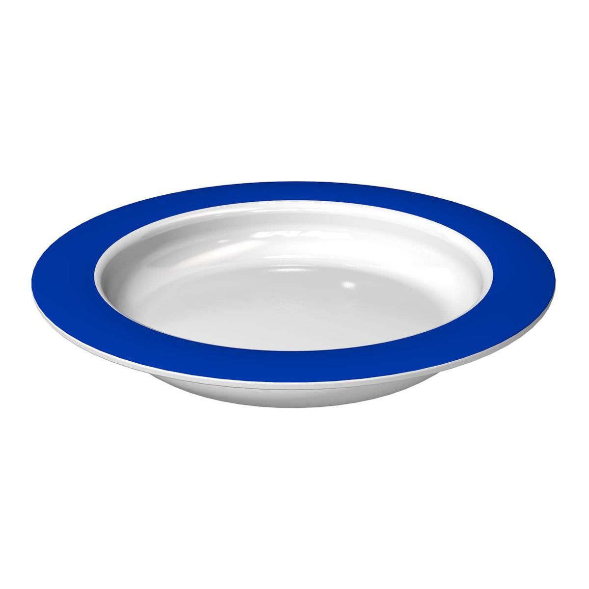 ORNAMIN Teller 902 - blauer Rand